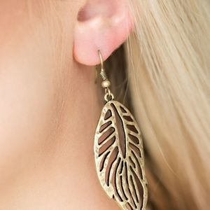 paparazzi Jewelry - Brass earrings paparazzi